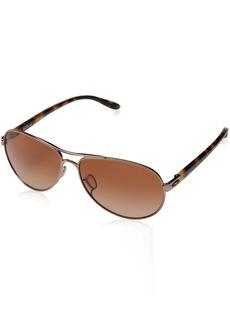 Oakley Women's Feedback OO4079-01 Aviator Sunglasses
