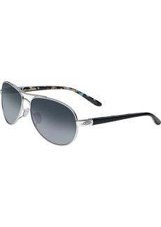 Oakley Women's OO4108 Tie Breaker Aviator Metal Sunglasses  56 mm