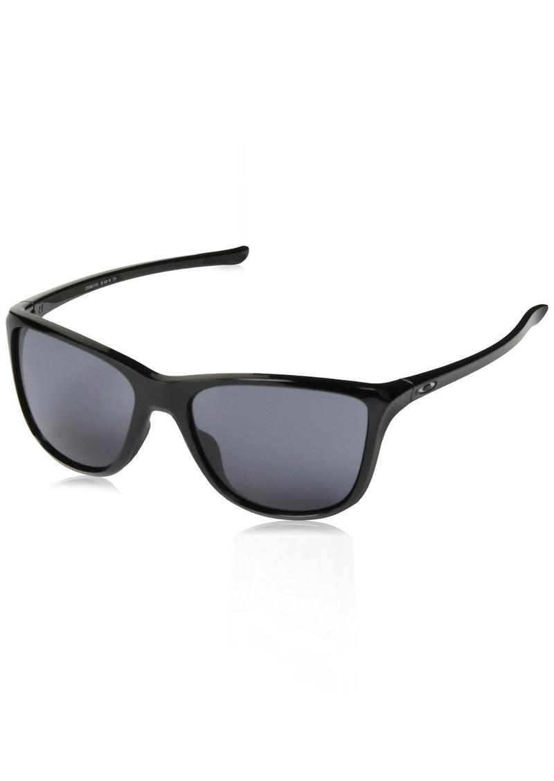 Oakley Women's Reverie Square Sunglasses POLISHED BLACK 55 mm