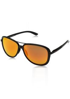 0f8c5b3970 Oakley Women s Split Time Non-Polarized Iridium Aviator Sunglasses 58.2 mm