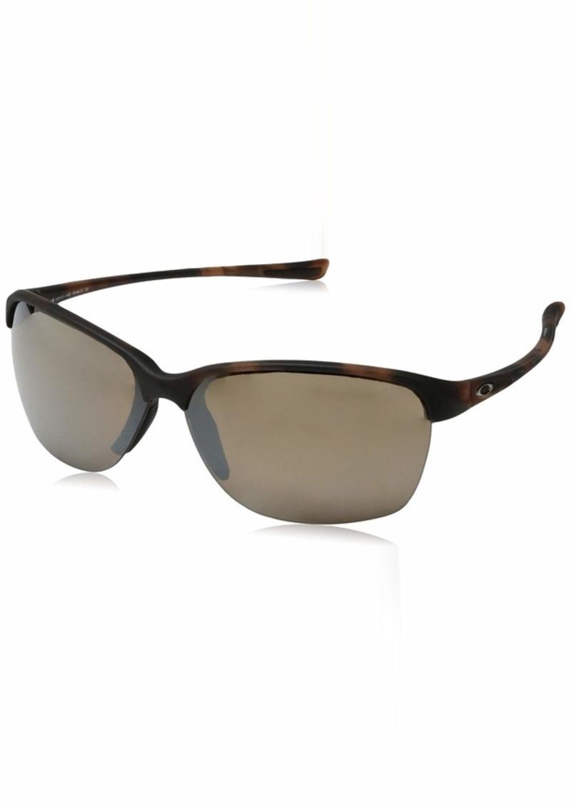 Oakley Women's Unstoppable Polarized Iridium Rectangular Sunglasses MATTE BROWN TORTOISE 65 mm