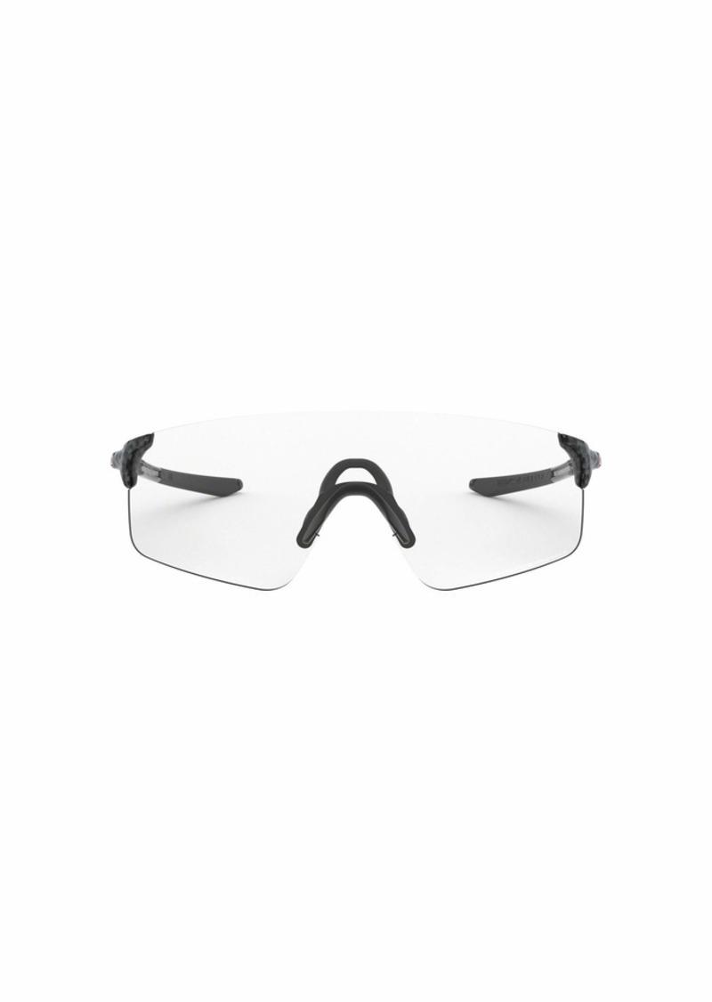 Oakley OO9454A Evzero Blades Asian Fit Rectangular Sunglasses carbon Fiber/Clr-Blk Photochromic 38 mm