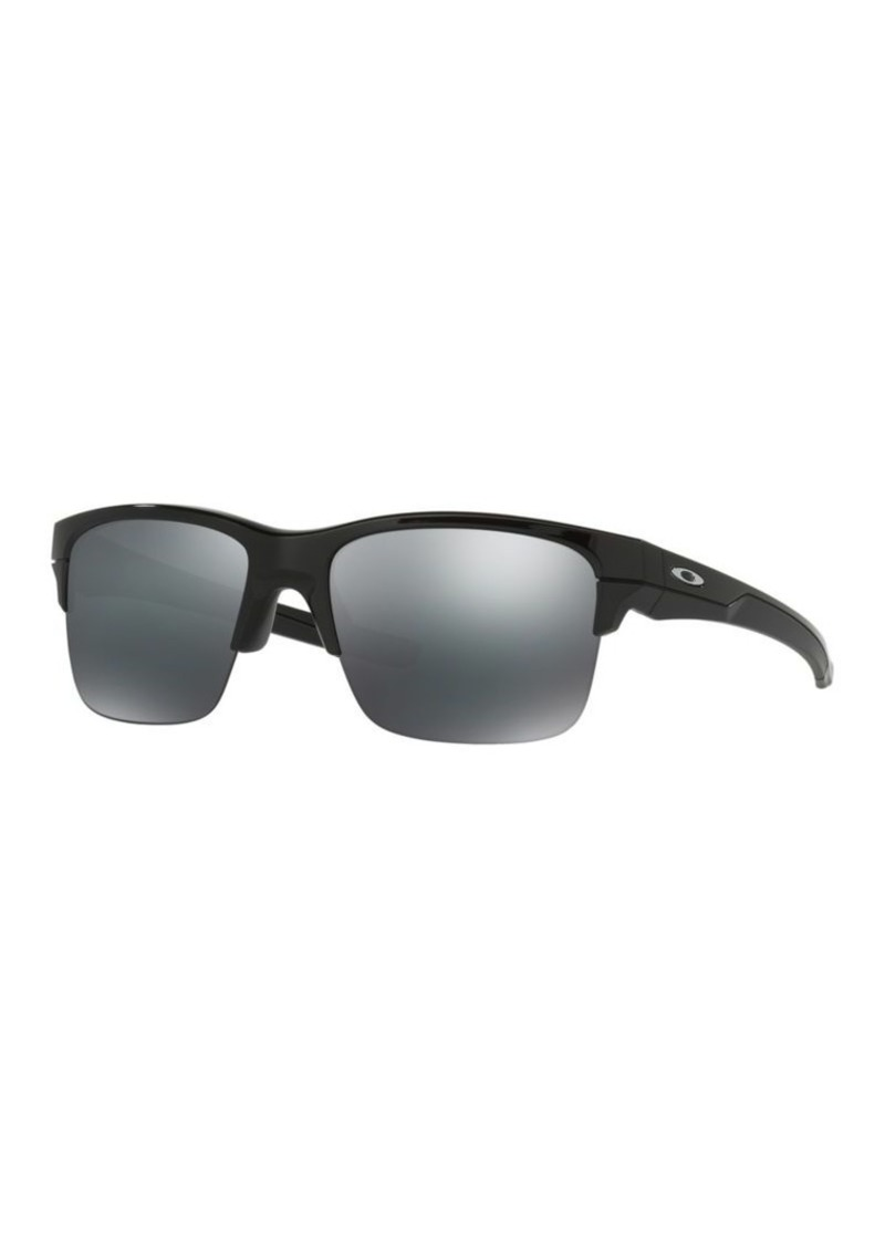 Oakley Square Silver Flash-Lens Sunglasses
