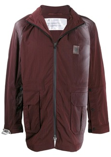 Oakley zipped ombré effect coat
