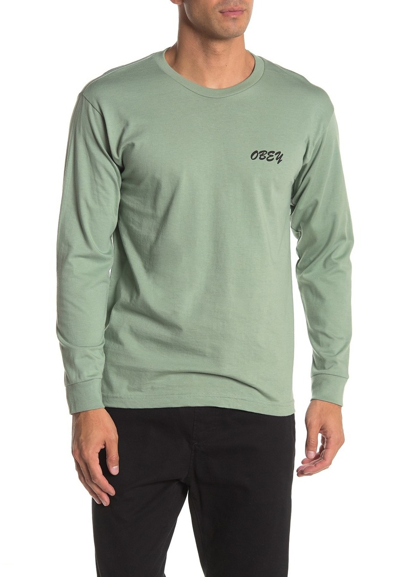 Obey Brushed Script Long Sleeve T-Shirt