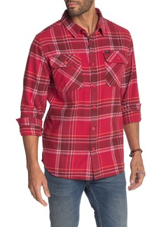 Obey Caldwell Regular Fit Plaid Button-Up Flannel Shirt