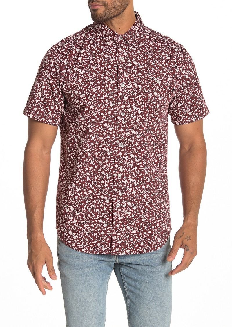 Obey Carson Short Sleeve Floral Print Regular Fit Woven Shirt