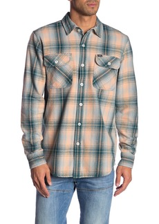 Obey Continental Plaid Print Flannel Shirt