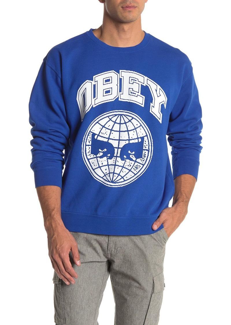 Obey Icon Planet Crew Neck Sweatshirt