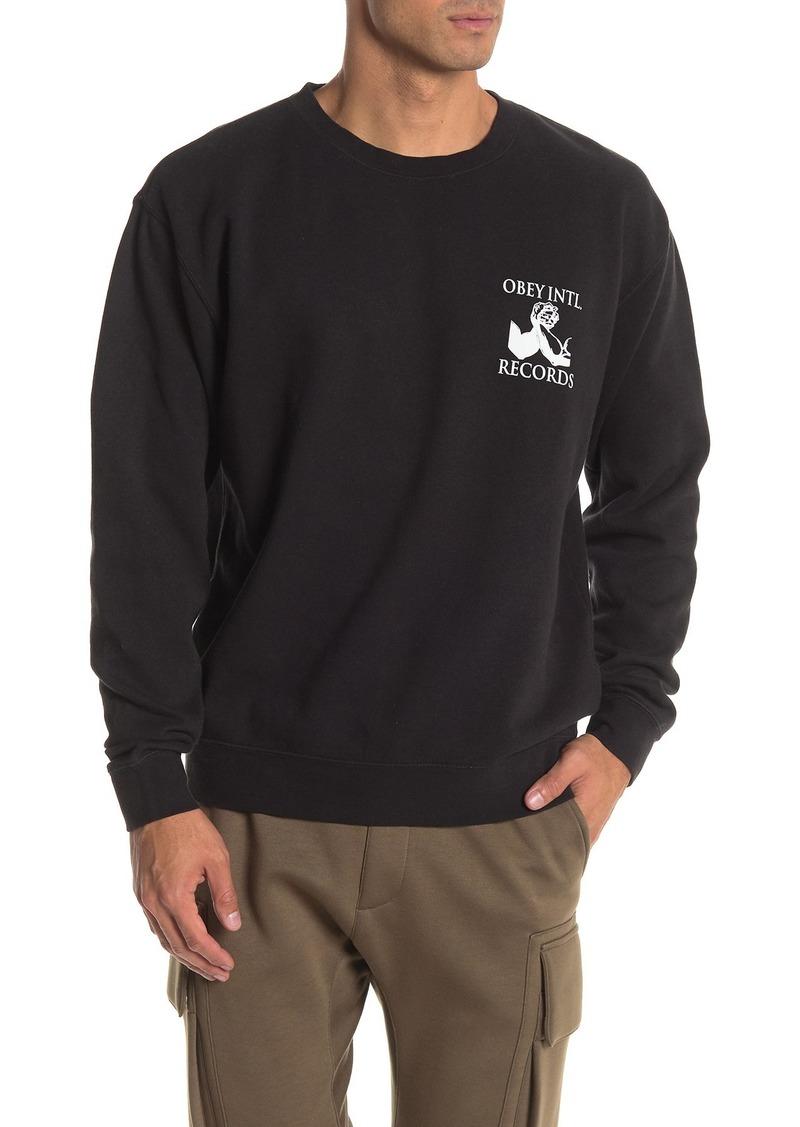 Obey Intl. Records Crew Neck Sweatshirt