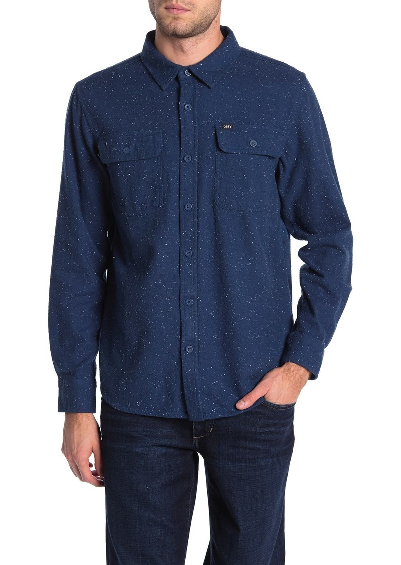 Obey Jasper Long Sleeve Woven Shirt
