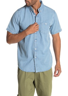 Obey Keble Denim Short Sleeve Shirt