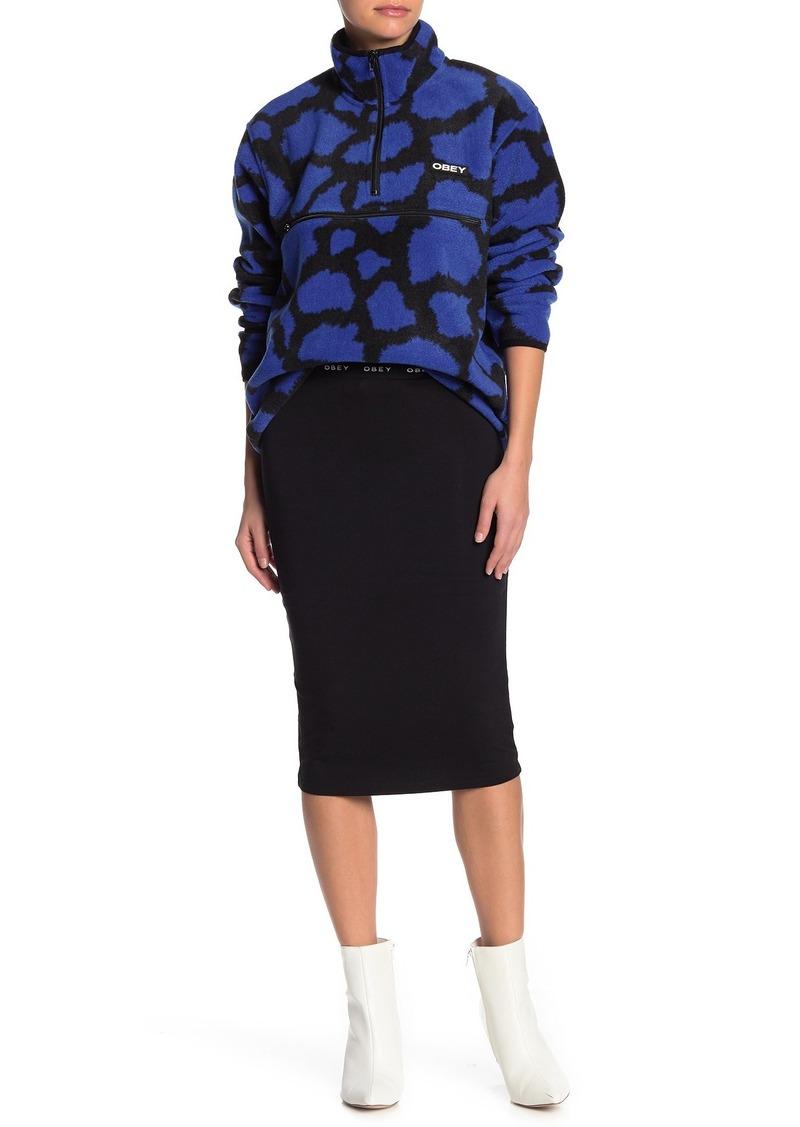 Obey Logo Waist Knit Skirt