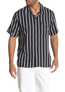 Obey Market Stripe Short Sleeve Slim Fit Shirt