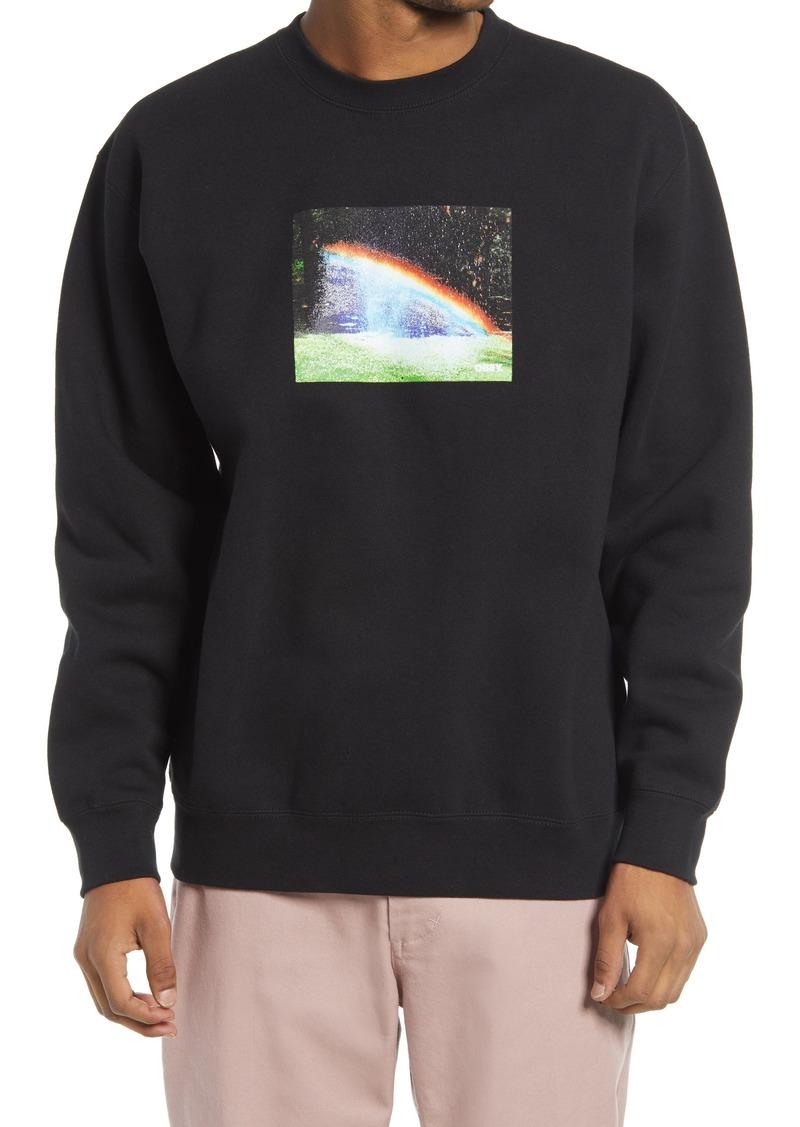 Men's Obey Men's Rainbow Graphic Sweatshirt