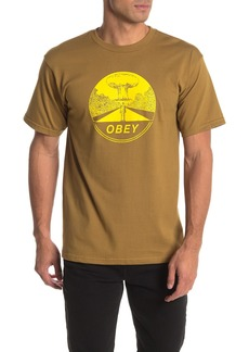 Obey Mushroom Cloud Graphic T-Shirt