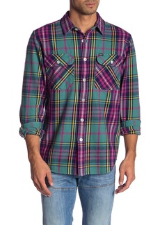 Obey Nelson Plaid Print Flannel Shirt