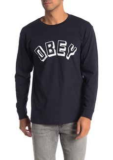 Obey New World Brand Logo Long Sleeve T-Shirt