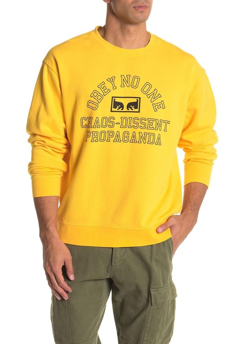 Obey No One Eyes Crew Neck Sweatshirt