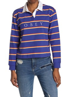 Obey Noble Striped Cropped Rubby Polo