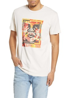 Obey 3 Face Collage Graphic Tee