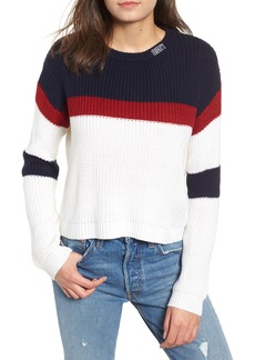 Obey Allie Colorblock Crewneck Sweater