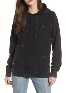 Obey Arlo Distressed Safety Pin Hoodie