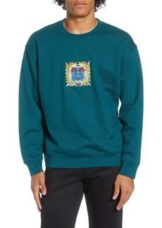 Obey Atlantic Embroidered Crewneck Sweatshirt