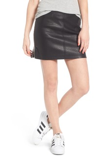 Obey Billie Faux Leather Skirt