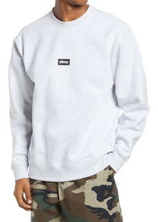 Obey Black Bar Crewneck Sweatshirt