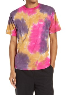 Obey Bold Multicolor Tie Dye T-Shirt