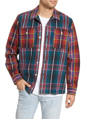 Obey Capitol Plaid Button-Up Flannel Shirt Jacket