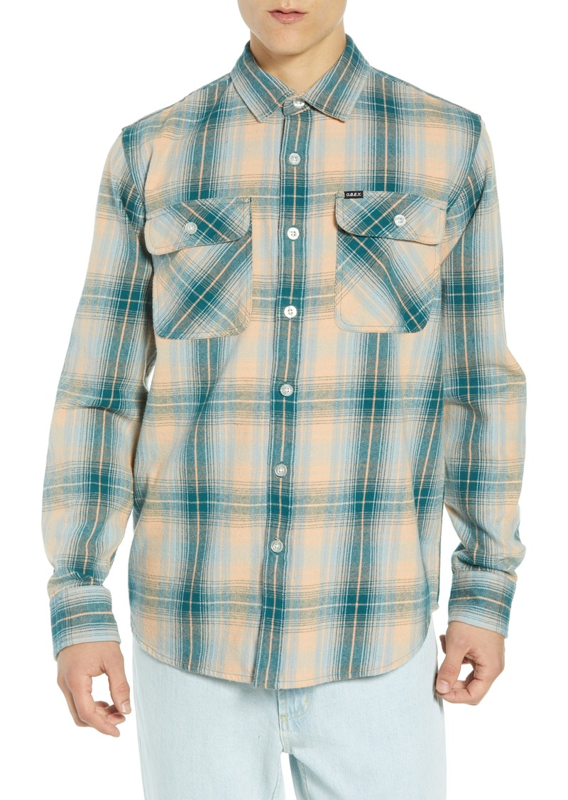 Obey Continental Plaid Flannel Shirt