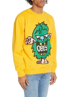 Obey Creech Graphic Crewneck Sweatshirt