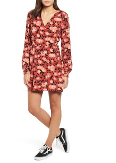 Obey Darcy Floral Wrap Dress