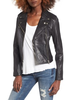 Obey Diablo City Leather Moto Jacket