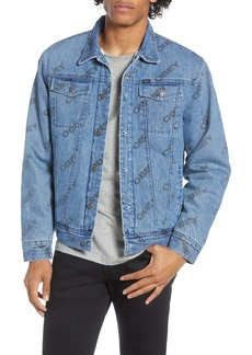 Obey Dynamite Fleece Lined Denim Trucker Jacket