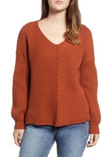 Obey Eleanor Rib Knit Sweater