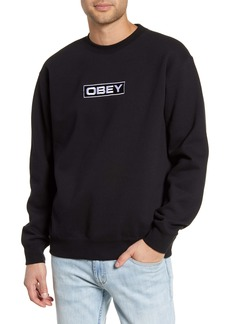 Obey Enigma Embroidered Crewneck Sweatshirt