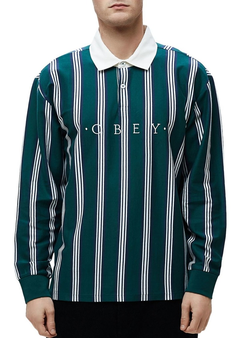 OBEY Firm Striped Classic Fit Polo Shirt