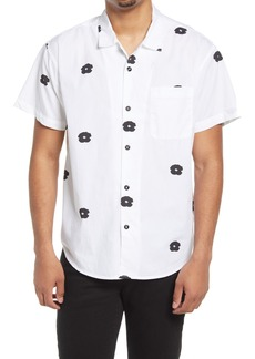 Obey Floral Short Sleeve Organic Cotton Button-Up Shirt