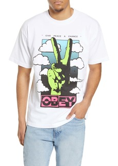 Obey Give Peace a Chance Graphic Tee