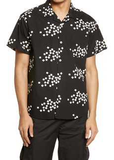 Obey Glazed Short Sleeve Button-Up Camp Shirt