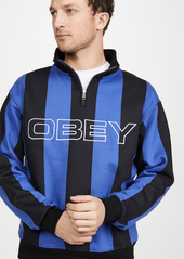 Obey Goal Zip Mock Neck