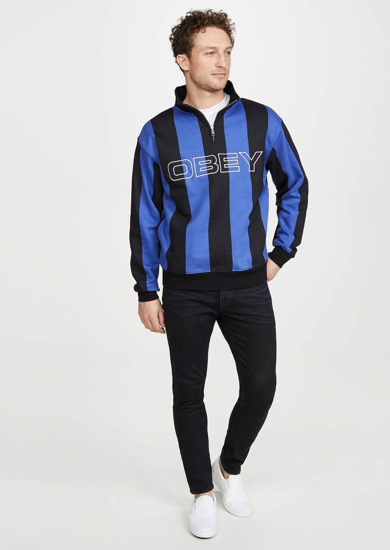 Obey Goal Zip Mock Neck