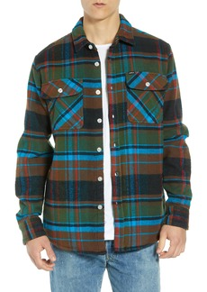 Obey Homebound Heavy Plaid Flannel Shirt Jacket