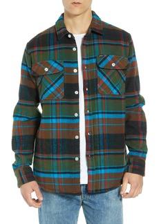 Obey Homebound Heavy Plaid Flannel Shirt Jacket
