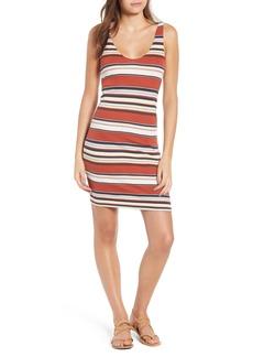 Obey Homesick Stripe Ribbed Dress
