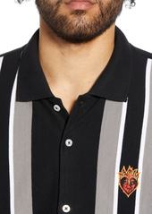 Obey Jailbird Piqué Button Front Polo