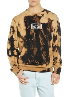 Obey Jumbled Eyes Bleachy Sweatshirt